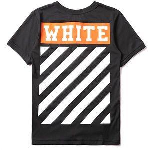 Off-white off white vigil Abdul shirt.
